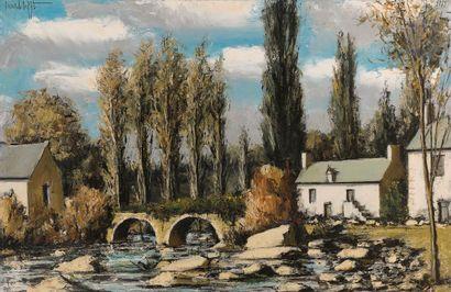 Bernard BUFFET (1928-1999) Baud, le Pont...