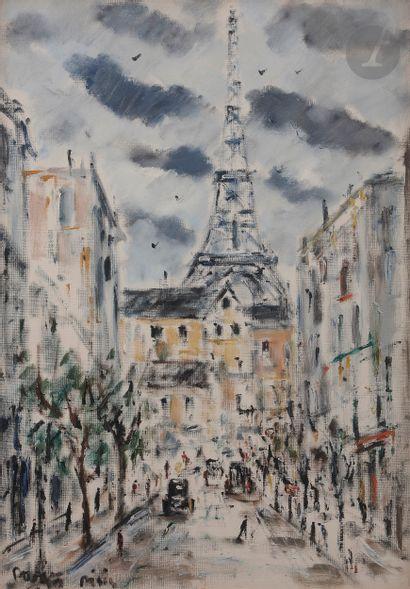 *Filippo de PISIS (1896-1956) La Tour Eiffel,...