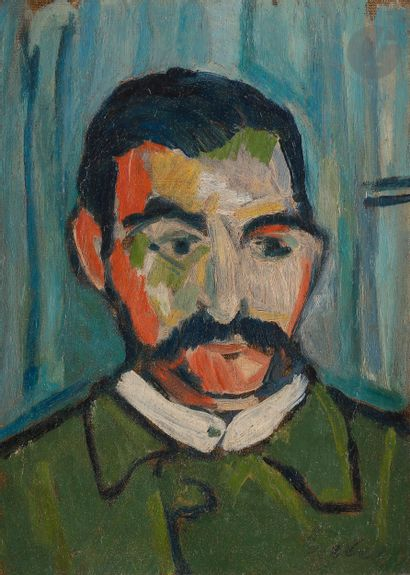 Bela CZOBEL (1883-1976) Portrait d'homme...