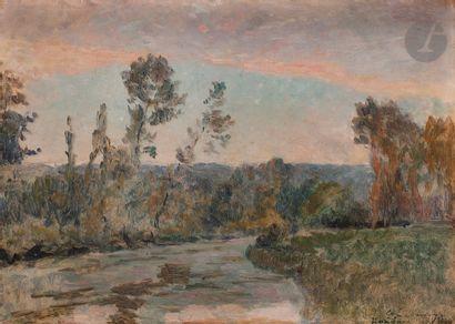 Albert LEBOURG (1849-1928) L'Iton, bordé...