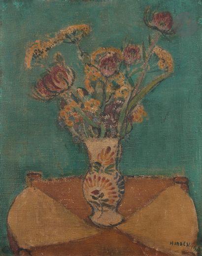 Henri HAYDEN (1883-1970) Vase de fleurs,...