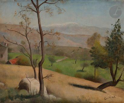Othon COUBINE (1883-1969) Montagne de Lure,...