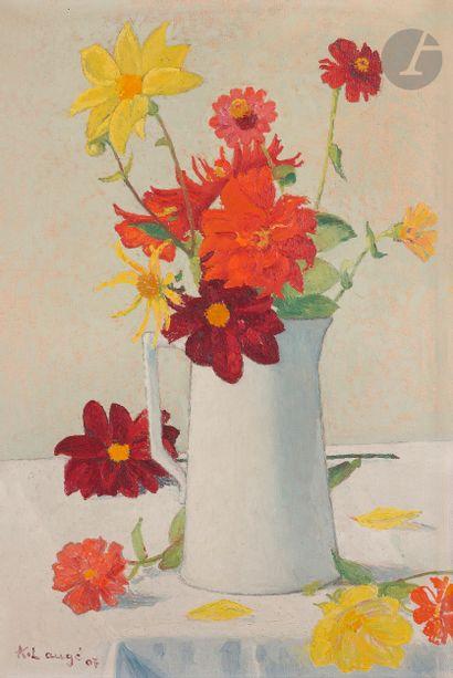 Achille LAUGÉ (1861-1944) Bouquet dans un...