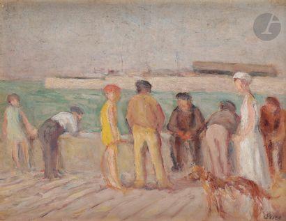 Maximilien LUCE (1858-1941) Les Promeneurs...