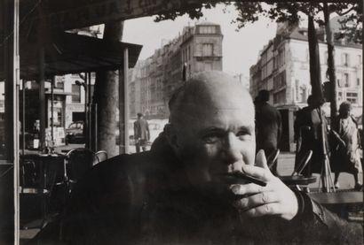 *Henri Cartier-Bresson (1908-2004) Jean Genet, 1963. Épreuve argentique d'époque....