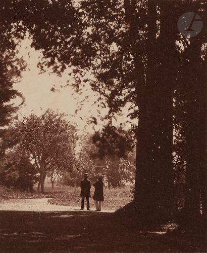 Frank Chauvassaignes (1831-?) Deux personnages...