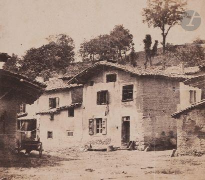 Frank Chauvassaignes (1831-?) Village auvergnat,...