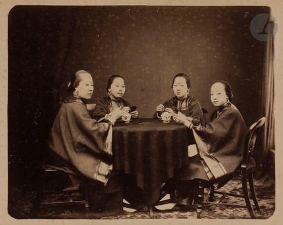 Pun Lun (attribué à) Chine, c. 1880. Joueuses...