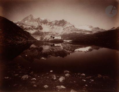 Maison Adolphe Braun Alpes Suisses, c. 1880. Grindelwald, mer de glace supérieure...