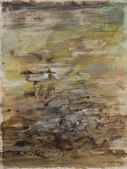 ZAO Wou-Ki [franco-chinois] (1920-2013) Composition,...
