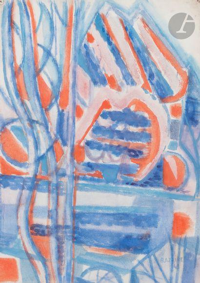 Jean BAZAINE (1904-2001) Arbres au bord de...