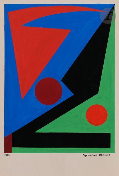 Geneviève CLAISSE (1935-2018) Composition,...