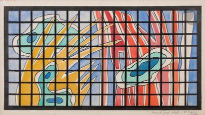 Fernand LÉGER (1881-1955) Maquette projet...