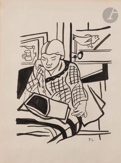 Fernand LÉGER (1881-1955) La Lecture ou Portrait...