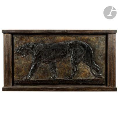 PAUL JOUVE (1878-1973) Panthère en marche, le modèle créé vers [1930], d'un tirage...