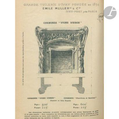 ÉMILE MULLER & Cie – GRANDE TUILERIE D'IVRY Vigne vierge, circa 1900-05 Importante...