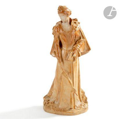 ALBERT-LOUIS DAMMOUSE (1848-1926) CÉRAMISTE & GUSTAVE MICHEL (1851-1924) SCULPTEUR...