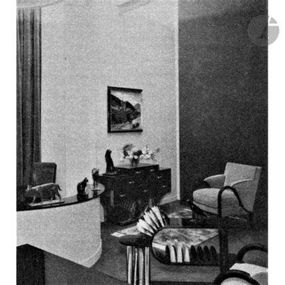 EUGÈNE PRINTZ (1879-1948) Lignes brisées, mars 1934, seul exemplaire dans cette...