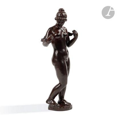 ARISTIDE MAILLOL (1861-1944) Femme à l'écharpe, le modèle créé en [1919], notre...