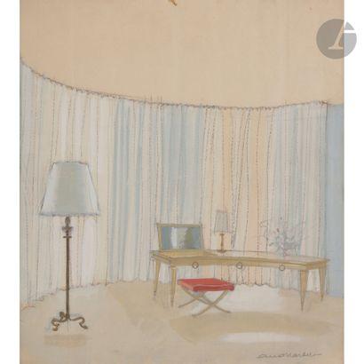 ANDRÉ ARBUS (1903-1969) 2 projets de décoration...