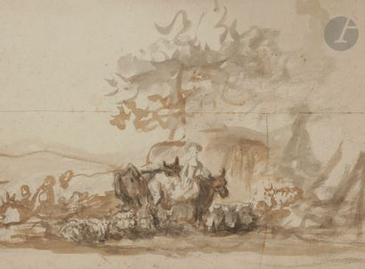 Dans le goût de FRAGONARD (Grasse 1732 -...