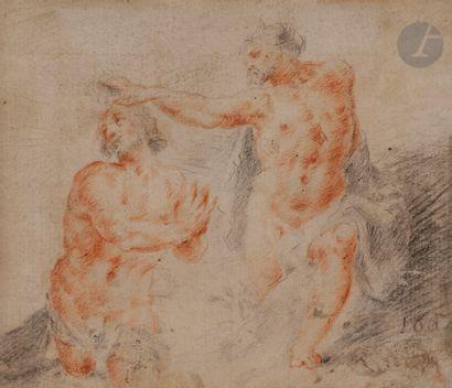 Suiveur de MURILLO (1618-1682) Saint Antoine...