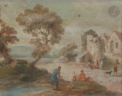 École française du XVIIIe siècle Personnages...