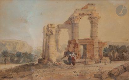 école française du XIXe siècle Le Temple...
