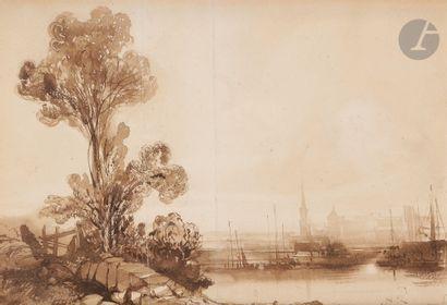 Attribué à Camille ROQUEPLAN (Mallemort 1800...