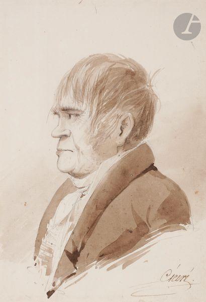 Eugène CICERI (1813 - 1890) Portrait présumé...