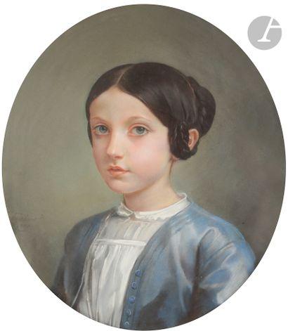 Léon RIESENER (Paris 1808 - Paris 1878) Portrait...