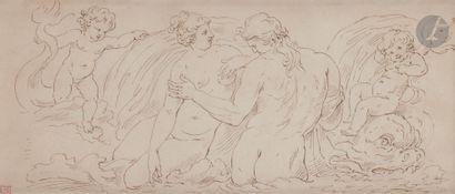 P. Van REYSSCHOTT (1738-1795) Femme et Dieu...