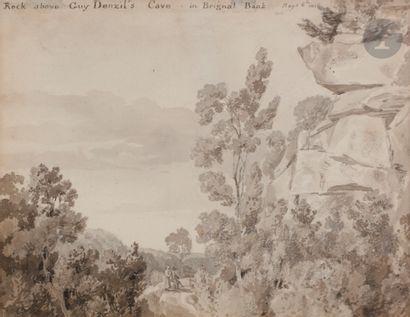 Elisabeth FANSHAW (1779-1855) Rock above...