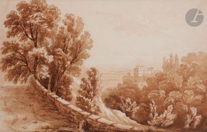 école française du XIXe siècle Paysage d'Italie...