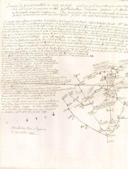 [Napoléon III]. 2 manuscrits autographes...