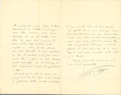 Vincent d'INDY (1851-1931). L.A.S., 10 mai...