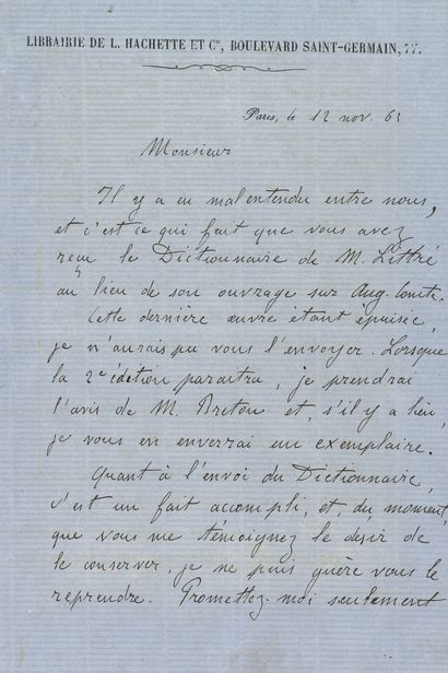 Émile ZOLA (1840-1902). L.A.S., Paris 12...