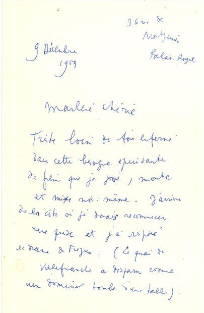 Jean COCTEAU. L.A.S. «Jean», Palais-Royal...