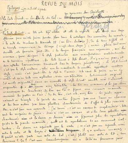 Remy de GOURMONT (1858-1915). Manuscrit autographe...