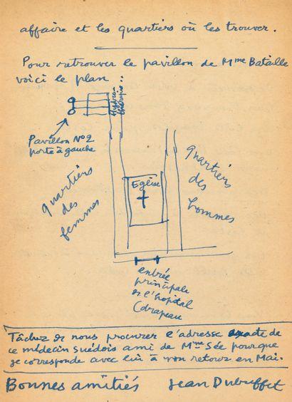 Jean DUBUFFET (1901-1985) peintre. 7 L.A.S., 4 L.S. et 11 notes autographes (une...