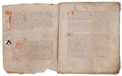 LIMOUSIN. Terrier manuscrit, janvier 1465;...