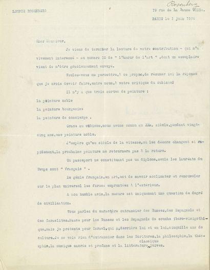 Léonce ROSENBERG (1879-1947) galeriste et...