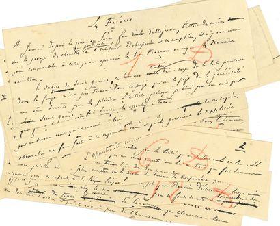 Édouard DRUMONT (1844-1917). Manuscrit autographe...