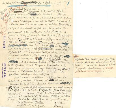 Charles-Marie WIDOR (1844-1937). Manuscrit...
