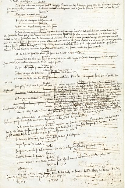 Alexandre DUMAS père (1802-1870). Manuscrit...