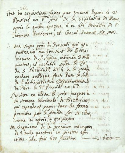Ennius-Quirinus VISCONTI (1751-1818), archéologue,...