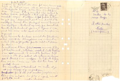 Gaston CHAISSAC (1910-1964). Autograph manuscript of 3 texts (each signed) with...