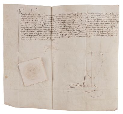 [HENRI III]. [SCHOMBERG (Gaspard de)]. Acte...