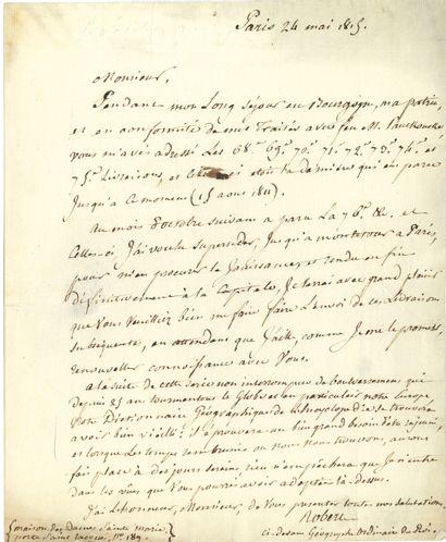 François ROBERT (1737-1819) géographe. 5...