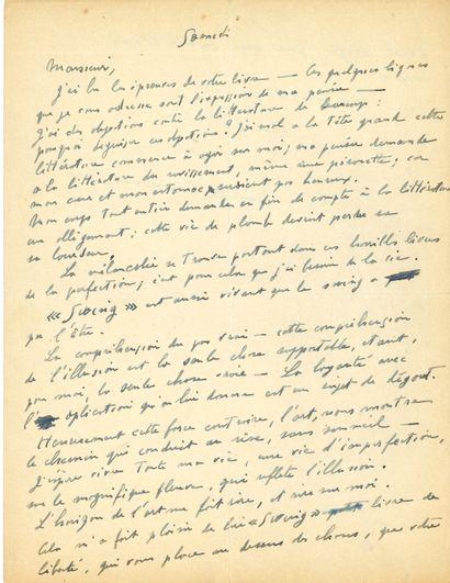 Francis PICABIA (1879-1953). L.A.S., Paris...